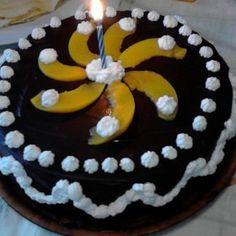 Túrós-barackos bögrés torta