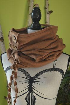 Loop Schal in mittelbraun von Michas-Modemacherei auf DaWanda.com