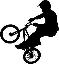 BMX. Silueta de ciclista.