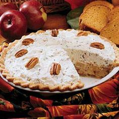 """Southern Ambrosia Apple Pie Recipe- Recipes """"Apples and Georgia pecans make this pie a winner,"""" reports field editor Carolyn Griffin of Macon. Pie Dessert, Dessert Recipes, Apple Pie Recipes, Apple Pies, Just Desserts, Southern Desserts, Southern Food, Southern Comfort, Sweet Tooth"""