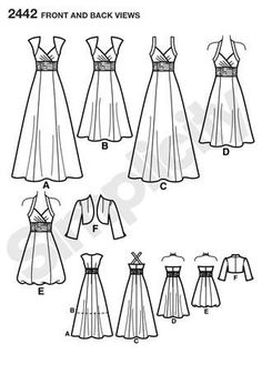 Find your perfect dress pattern from our huge range: summer dress patterns, evening dress patterns, vintage dress patterns, easy to sew, from all leading brands Evening Dress Patterns, Summer Dress Patterns, Wedding Dress Patterns, Vintage Dress Patterns, Dress Sewing Patterns, Sewing Patterns Free, Clothing Patterns, Pattern Sewing, Diy Clothes