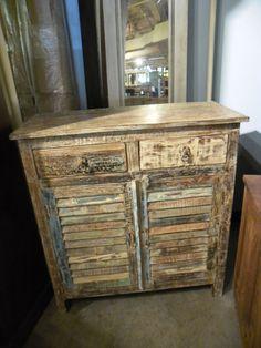 """Rustic Shutter Cabinet  NP062 - $373   36""""W x 16""""D x 39""""H  #NadeauNashville"""