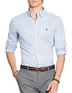 POLO RALPH LAUREN Polo Ralph LaurenPlaid Cotton Twill Shirt. #poloralphlauren #cloth #