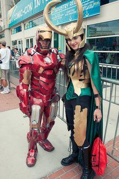Iron Man and Lady Loki – Hayley Sargent – SDCC 2012