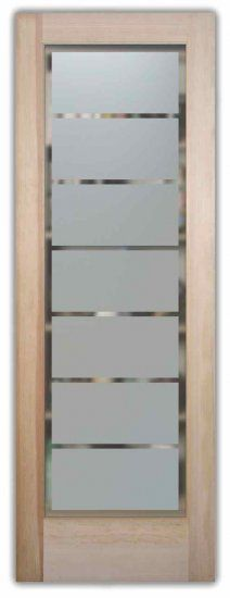 Etched Glass Doors Rectangle Pattern Frosted Interior Glass Door
