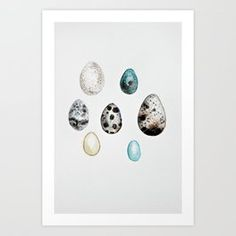 Art Print featuring egg collection - watercolor by craftberrybush Watercolor Art, Photo Wall, Art Prints, Egg, Frame, Walls, Holidays, Collection, Living Room