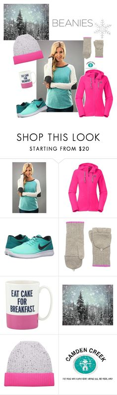 Beanie Love by camdencreekboutique on Polyvore featuring The North Face, 12PM by Mon Ami, NIKE, Orwell + Austen, Phenix, Kate Spade, shopping, boutique and camdencreek
