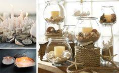 idee centrotavola candele matrimonio a tema mare