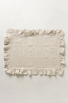 Ruffled Linen Placemats - anthropologie.com