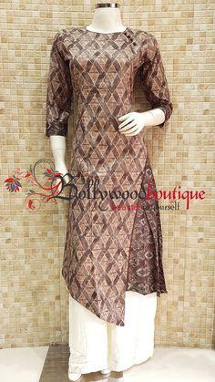 Designer Kurtis Archives - Page 7 of 8 - Bollywood Boutique Stylish Dresses For Girls, Stylish Dress Designs, Lovely Dresses, Blouse Batik, Batik Dress, Salwar Designs, Kurti Designs Party Wear, Kurti Patterns, Dress Sewing Patterns