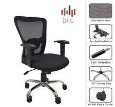 Rating : 4.1 out of 5  Reviews : More than 35 reviews about it.  The reviews and rating indicate it is a good one Study Desk, Study Office, Home Office Chairs, Office Table, Best Computer Chairs, Student Chair, Mesh Chair, Small Tables, Siena