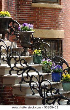 wrought iron front yard fence - Google Search