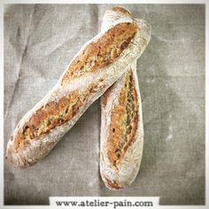 Baguettes céréales et graines. #atelierpain # baguette #bread