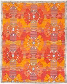 Märta Måås-Fjetterström and Barbro Nilsson Wool Flat Weave 'Park röd, Korsnäs' Textile Texture, Textile Art, Textures Patterns, Print Patterns, Rya Rug, Passementerie, Kilims, Tapestry Weaving, Beautiful Patterns