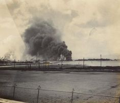 Fire at Ford Island, Pearl Harbor, Japanese Attack December 7, 1941