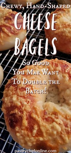 Chewy Homemade Cheese Bagels - Bagels are delicious but sometimes it can be hard to find good ones. Making homemade bagels is the - Cheese Bagels, Asiago Cheese, Homemade Bagels, Homemade Cheese, Tasty Bread Recipe, Bread Recipes, Easy Recipes, How To Make Bagels, Food Recipes