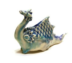 dragon figurine   Scaly Wings porcelain sculpture by SongandBranch, $28.00