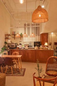 Home Decoration For Anniversary Cafe Shop Design, Coffee Shop Interior Design, Plywood Furniture, Design Furniture, Design Café, House Design, Korean Coffee Shop, Bar Pub, Cafe Bar