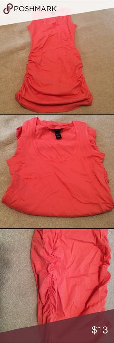 Long pink tank top Long pink tank top, rouged on the sides. Never worn. Moda International Tops Tank Tops