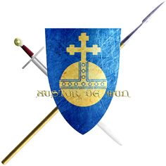 Austor de Mun. He is from the province of Bigorre and took the Cross in 1248 to join the sixth crusade.  To this day, the village of Mun meaning mound, in the Hautes-Pyrénées, bears as its arms a globe cintré et croiseté on a field d'Azure.
