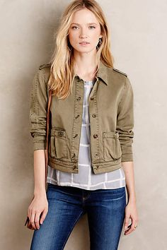 Cropped Military Jacket - anthropologie.com