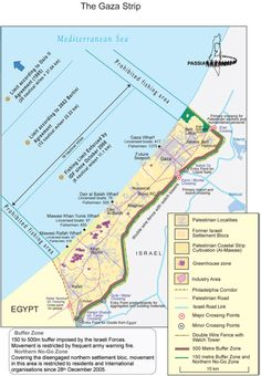 Where are they supposed to go...??? Map of Gaza.