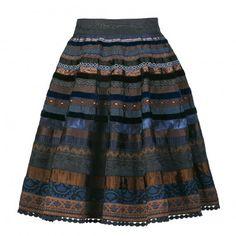 Ribbon Skirt blue chocolate
