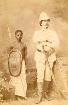 This photograph was shot, when Stanley was back from his journey to find Livingstone. It is part of a series, emphasizing the idea of exploration and long travels in Africa.