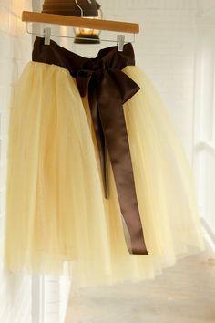 Gold Adult tutu prom dress tutu skirt brown by StudioWedbyMirela