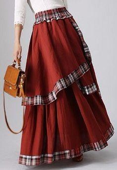 Skirts for Women-Maxi Skirt-Boho Chic-Long Skirt-Linen Skirt-Bohemian Skirt-Woman Skirt-Boho Skirt-Full Skirt-Summer Skirt-Long Linen Skirt Maxi Skirt Boho, Bohemian Skirt, Gypsy Skirt, Boho Skirts, Dress Skirt, Linen Skirt, Boho Chic, Frilly Skirt, Swag Dress