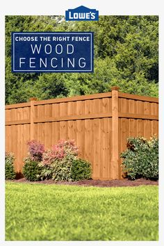 A fence can provide privacy, security, pet containment and more. Learn how to choose the right fence style for you. Backyard Privacy, Backyard Fences, Yard Fencing, Backyard Patio Designs, Backyard Projects, Privacy Fence Designs, Fence Styles, Backyard Makeover, Landscape Designs