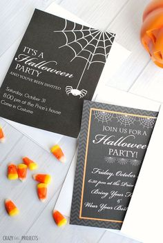 21 Free Halloween Invites That Your Guests Will Love: Free, Printable Halloween Invitations from Yellow Bliss Road