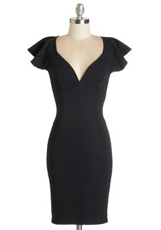 form fitted classic black dress