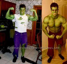 Hulk Halloween Costume, Superhero Halloween, Family Halloween Costumes, Adult Halloween, Halloween Ideas, Halloween Party, Halloween Stuff, Halloween Makeup, Homemade Halloween