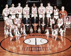 New York Knicks team portrait from the 1972-1973 season. From left to right: Bottom row: Henry Bibby, Walt Frazier, Ned Irish (president), Irving Mitchell Felt (Chairman of the Board), William (Red) Holzman (Gen.Mgr & Coach), Earl Monroe, Dick Barnett, Harthorne Wingo (Insert); Top row: Bill Bradley, Phil Jackson, John Gianelli, Dave De Busschere, Willis Reed, Jerry Lucas, Tom Riker,Dean Meminger, Trainer Danny Whalen, 1973. (AP Photo) (jonathanpriddy033.spreadable.info)