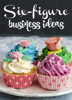 Ready to start your own six figure business?! Check out my list of ideas - most of which can be done from your own home and on your own schedule!