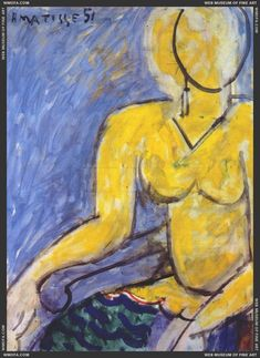 Katia in a Yellow Dress 1951  Matisse, Henri