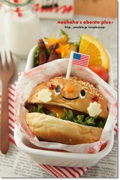 burger bento lunch