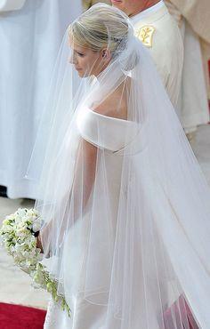 Princess Charlene of Monaco royal wedding - love the wedding veil!