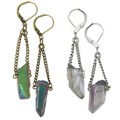 Quartz Crystal Earrings at The Animal Rescue Site