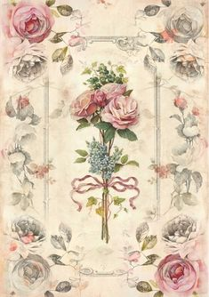 Vintage Diy, Decoupage Vintage, Vintage Labels, Vintage Cards, Vintage Paper, Vintage Images, Vintage Flowers, Vintage Floral, Vintage Flower Backgrounds