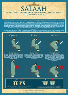salaah - sitting on a chair
