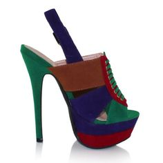 Lois Colorblock Women's Peep Toe Platform Sandals « Holiday Adds