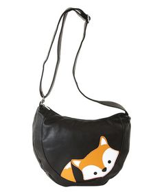 Another great find on #zulily! Black Peeking Baby Fox Crossbody Bag #zulilyfinds