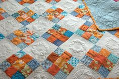 The colors are beautiful and the quilting is great