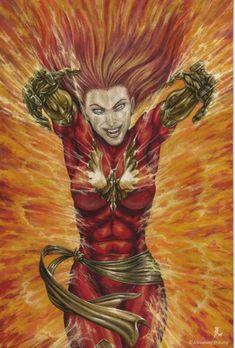 Dark Phoenix by bushande.deviantart.com
