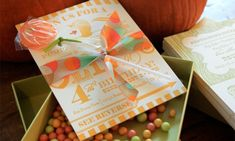 Olivia's Country Carnival-Inspired Birthday Party Invitations by The Happy Envelope