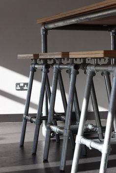 Pipe Bar Stools, for workshop