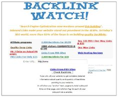 Building links for a website this tool is useful to check competitor's backlinks. By submitting links better rankings can be achieved in search engines.
