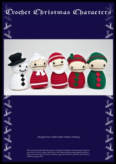 Christmas Crochet Pattern Collection PDF by NeedleNoodles on Etsy https://www.etsy.com/listing/7937612/christmas-crochet-pattern-collection-pdf